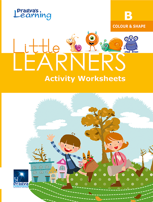 Little Learners worksheet Colour & shape- B