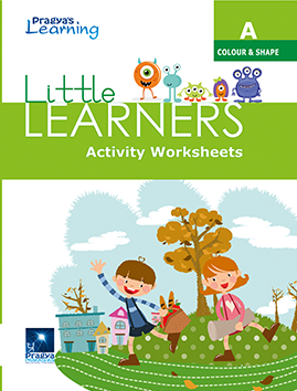 Little Learners worksheet Colour & shape- A