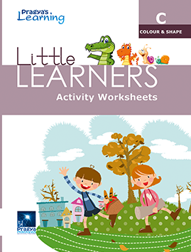 Little Learners worksheet Colour & shape- c